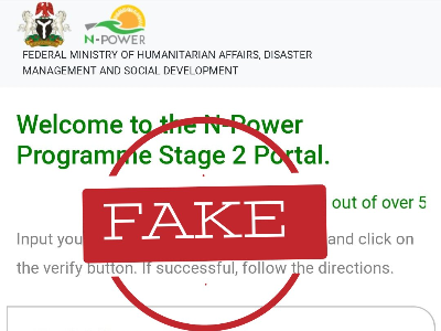 Beware! The advertised N-Power stage two shortlist portal is a scam